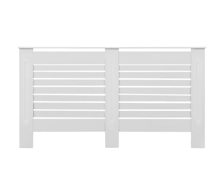 vidaXL Cache-radiateurs 2 pcs Blanc 152x19x81,5 cm MDF[4/8]
