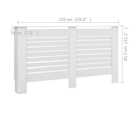 vidaXL Cache-radiateurs 2 pcs Blanc 152x19x81,5 cm MDF[8/8]