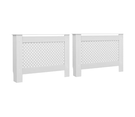 vidaXL Cache-radiateurs 2 pcs Blanc 112x19x81,5 cm MDF[2/8]