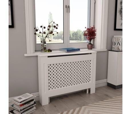 vidaXL Cache-radiateurs 2 pcs Blanc 112x19x81,5 cm MDF[1/8]