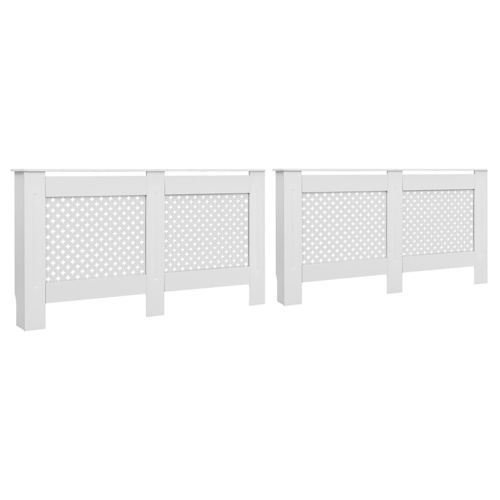 vidaXL Coberturas de radiador 2 pcs 152x19x81,5 cm MDF branco