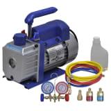 vidaXL Single Stage Vacuum Pump with 2-Way Manifold Gauge Set