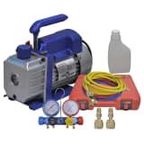 vidaXL Single Stage Vacuum Pump with 4-Way Manifold Gauge Set