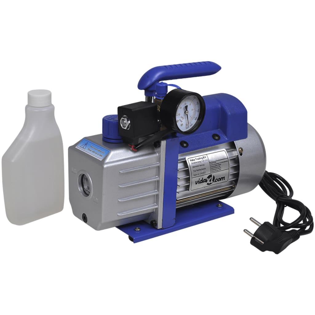 vidaXL Vacuümpomp 1-traps met 4-voudige manometerset
