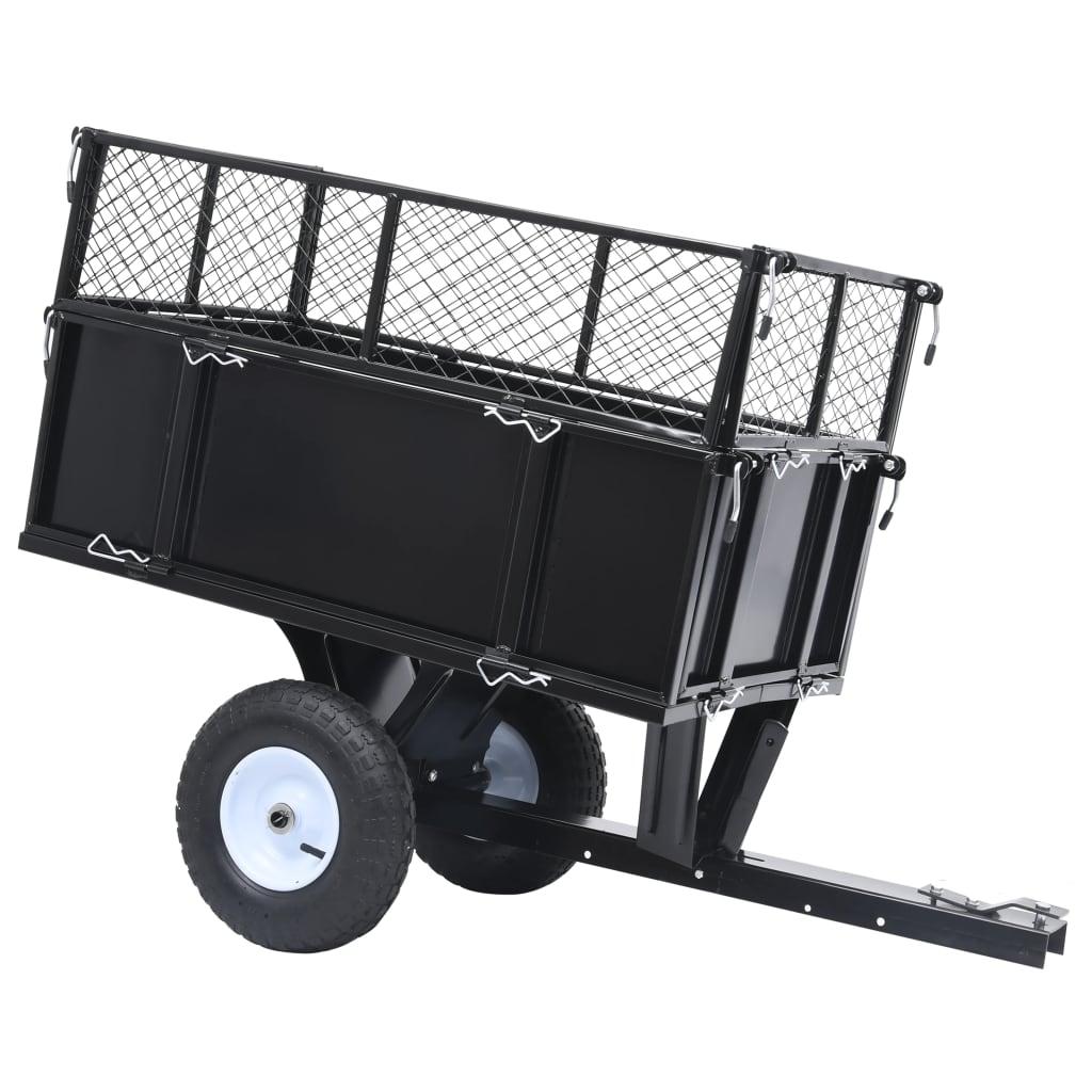 vidaXL Remorcă basculantă tractor de tuns gazon, încărcătură 150 kg poza vidaxl.ro