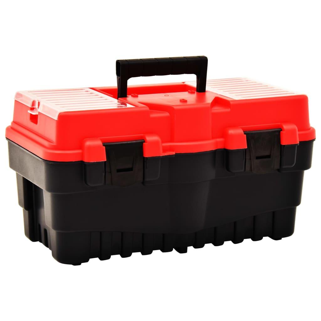 vidaXL Box na nářadí plast 462 x 256 x 242 mm červený