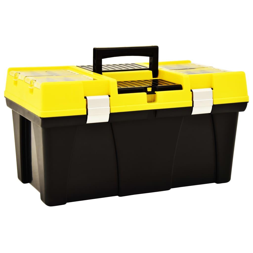 Box na nářadí plast 595 x 337 x 316 mm žlutý