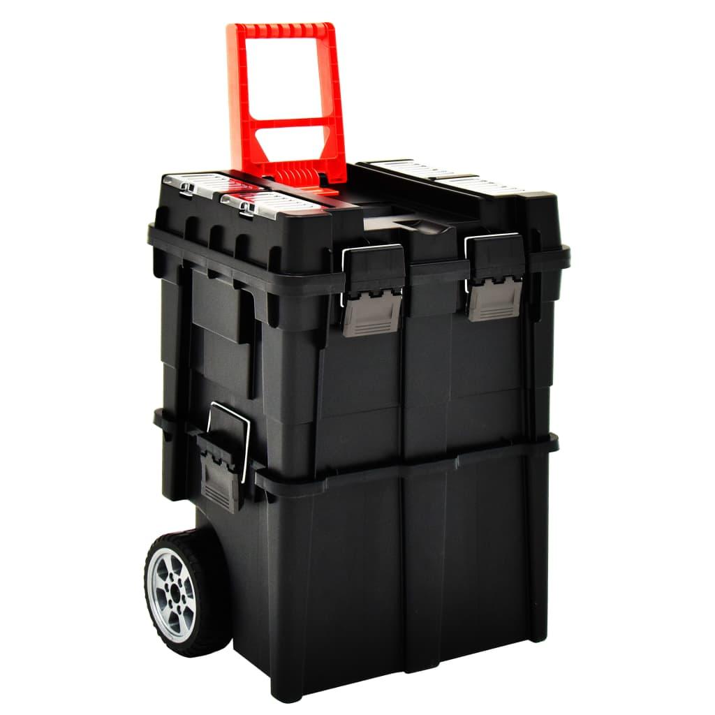 vidaXL Vozík s organizéry na nářadí a rukojetí 46 x 36 x 41 cm