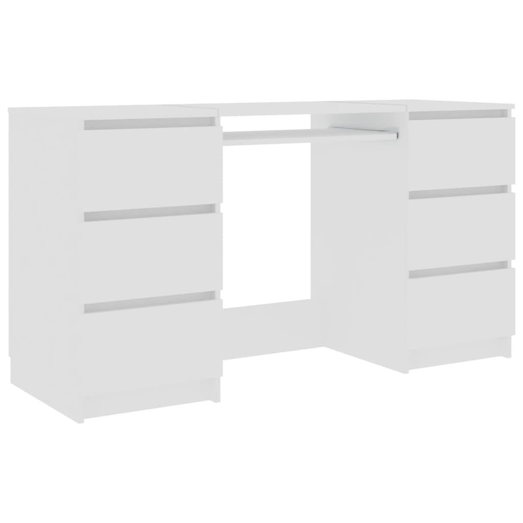 vidaXL Schrijftafel 140x50x77 cm spaanplaat wit