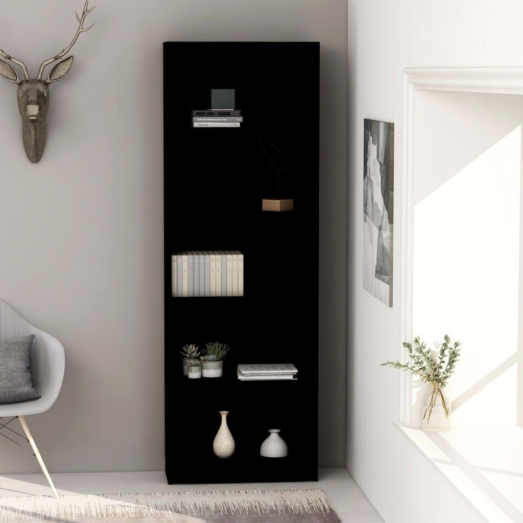 5-korruseline raamaturiiul must 60x24x175 cm, pui..