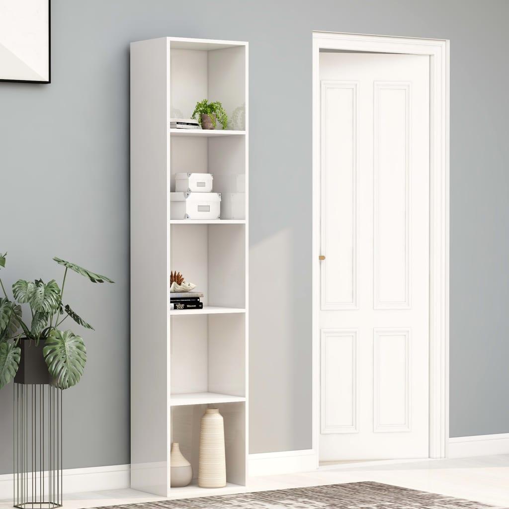 vidaXL Boekenkast 40x30x189 cm spaanplaat hoogglans wit