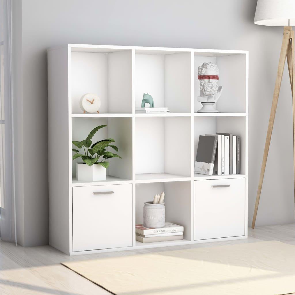 99801116 Bücherregal Weiß 98 x 30 x 98 cm Spanplatte