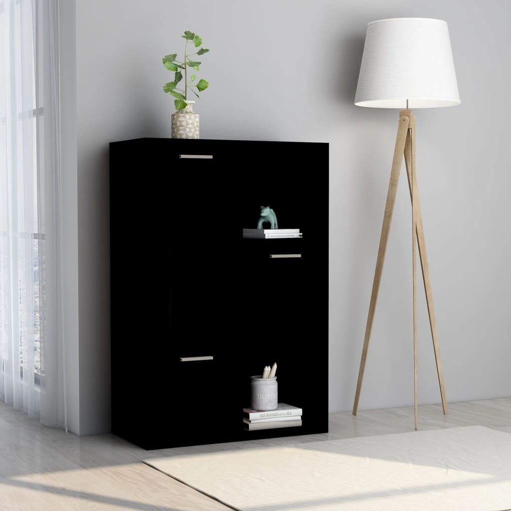 vidaXL Dulap de depozitare, negru, 60 x 29,5 x 90 cm, PAL vidaxl.ro