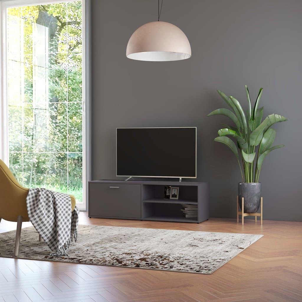 vidaXL Comodă TV, gri, 120 x 34 x 37 cm, PAL vidaxl.ro