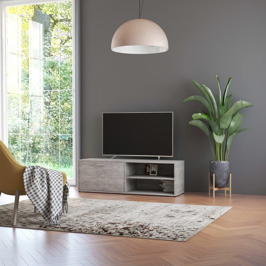 vidaXL Comodă TV, gri beton, 120 x 34 x 37 cm, PAL poza vidaxl.ro