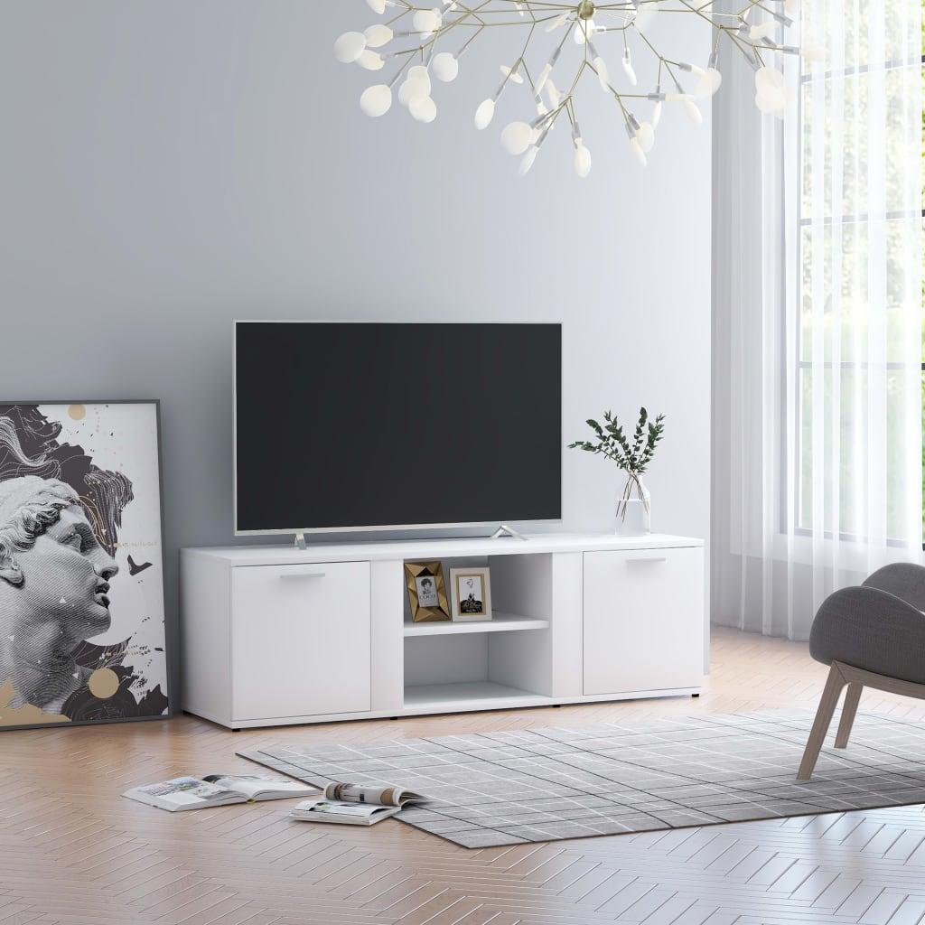vidaXL Szafka pod TV, biała, 120x34x37 cm, płyta wiórowa