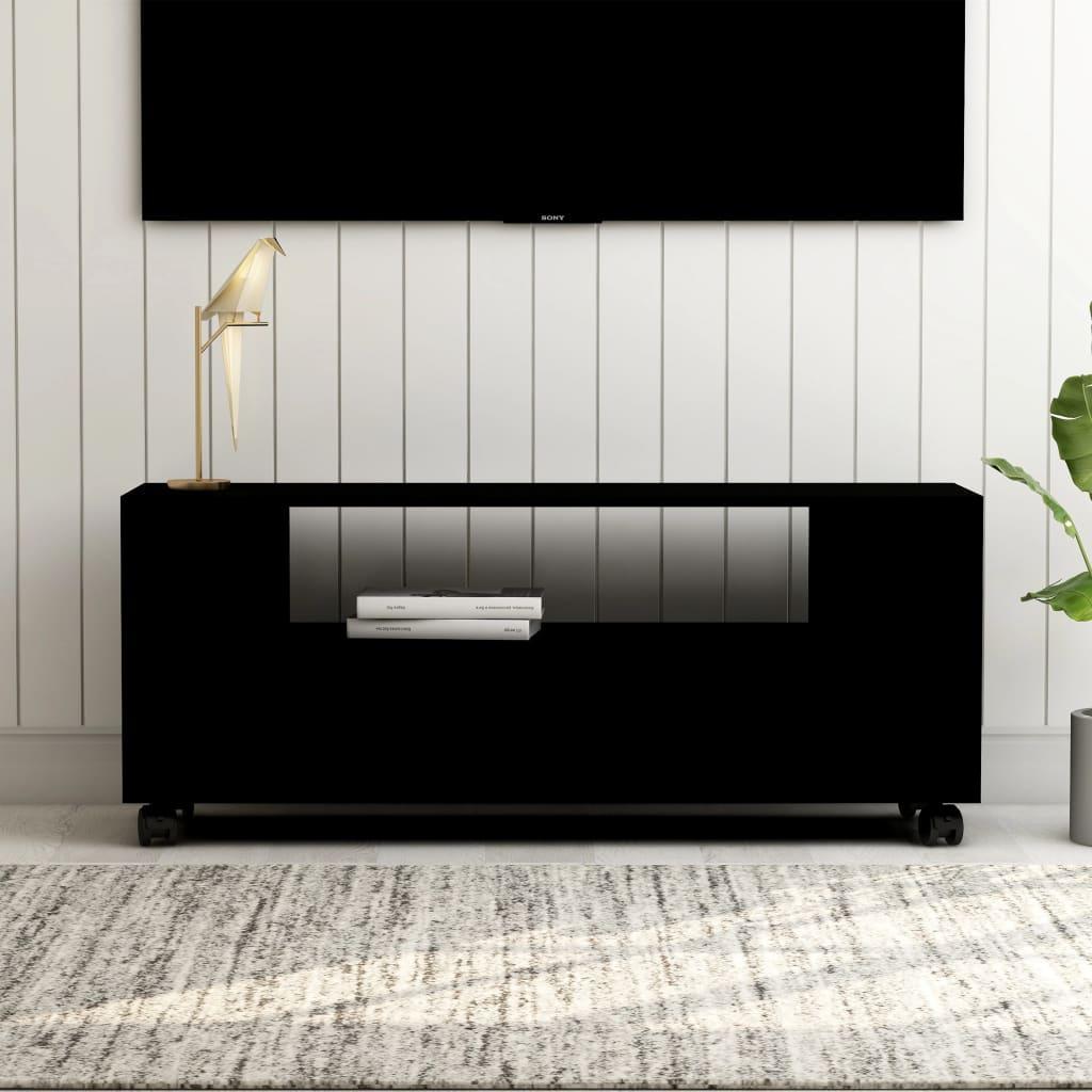 vidaXL Comodă TV, negru, 120 x 35 x 43 cm, PAL imagine vidaxl.ro