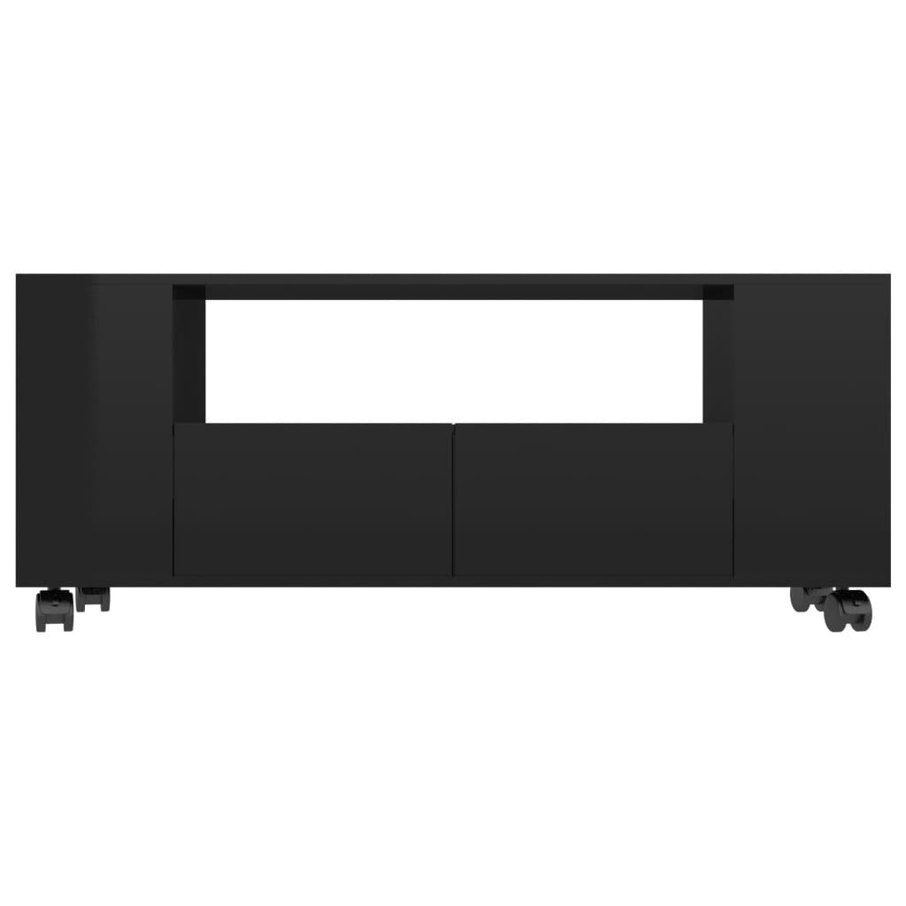 vidaXL Tv-meubel 120x35x43 cm spaanplaat hoogglans zwart