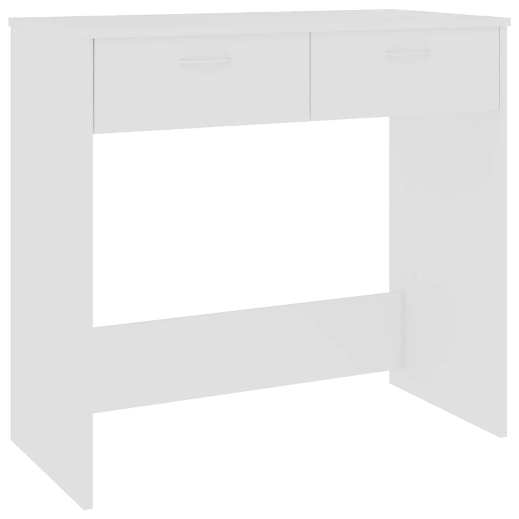 vidaXL Γραφείο Λευκό 80 x 40 x 75 εκ. από Μοριοσανίδα