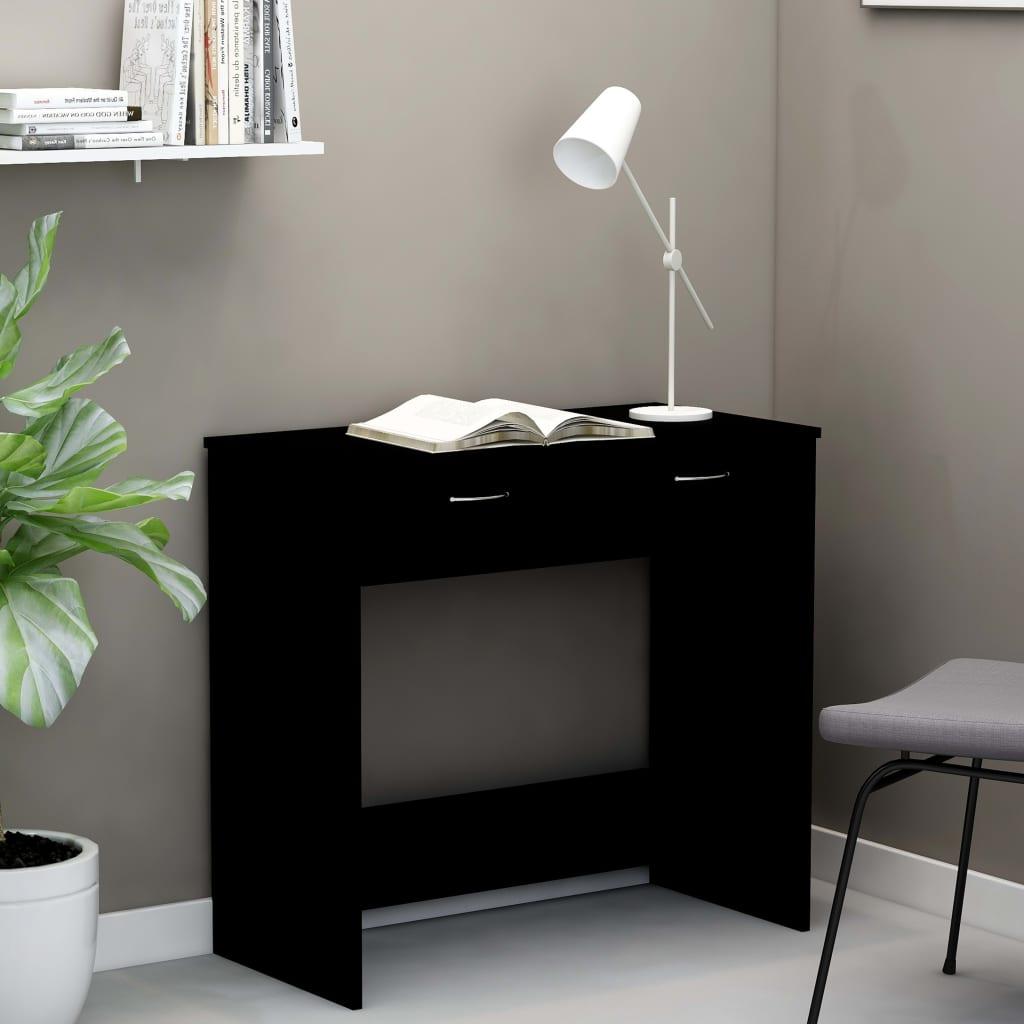 Psací stůl černý 80 x 40 x 75 cm dřevotříska