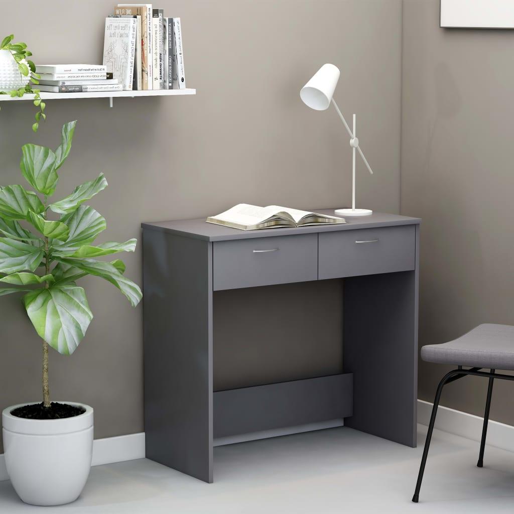 Psací stůl šedý 80 x 40 x 75 cm dřevotříska