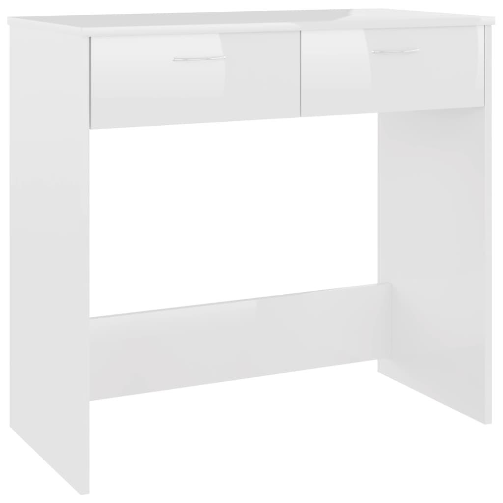 vidaXL Γραφείο Γυαλιστερό Λευκό 80 x 40 x 75 εκ. από Μοριοσανίδα
