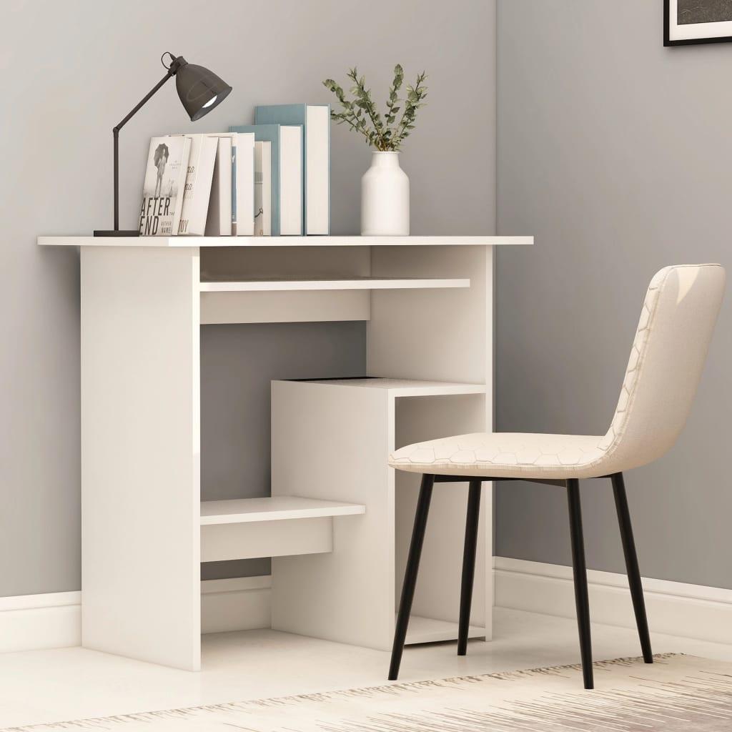 Psací stůl bílý 80 x 45 x 74 cm dřevotříska