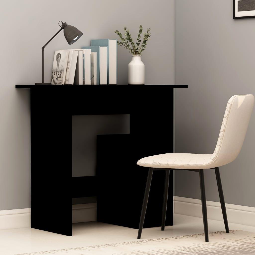 Psací stůl černý 80 x 45 x 74 cm dřevotříska