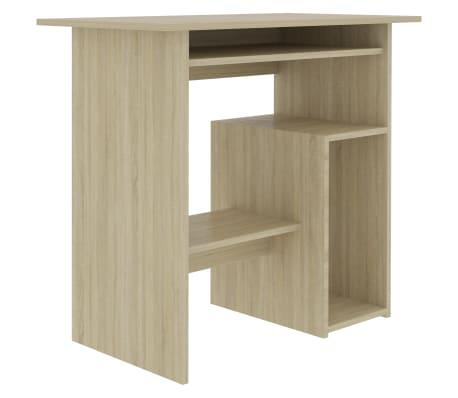 "vidaXL Desk Sonoma Oak 31.5""x17.7""x29.1"" Chipboard"