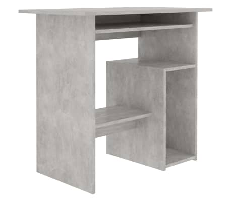 "vidaXL Desk Concrete Gray 31.5""x17.7""x29.1"" Chipboard"