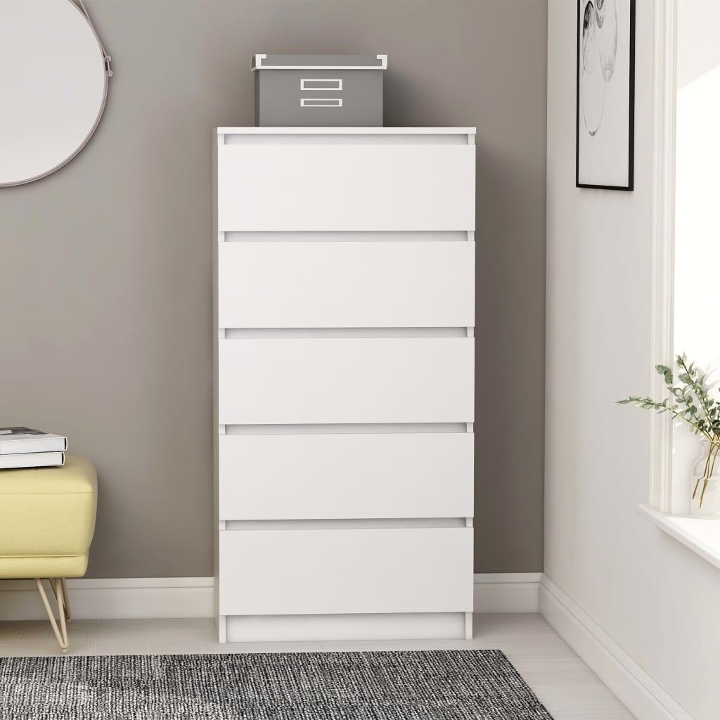 vidaZL Příborník se zásuvkami bílý 60 x 35 x 121 cm dřevotříska