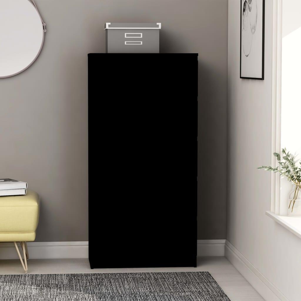 vidaZL Příborník se zásuvkami černý 60 x 35 x 121 cm dřevotříska