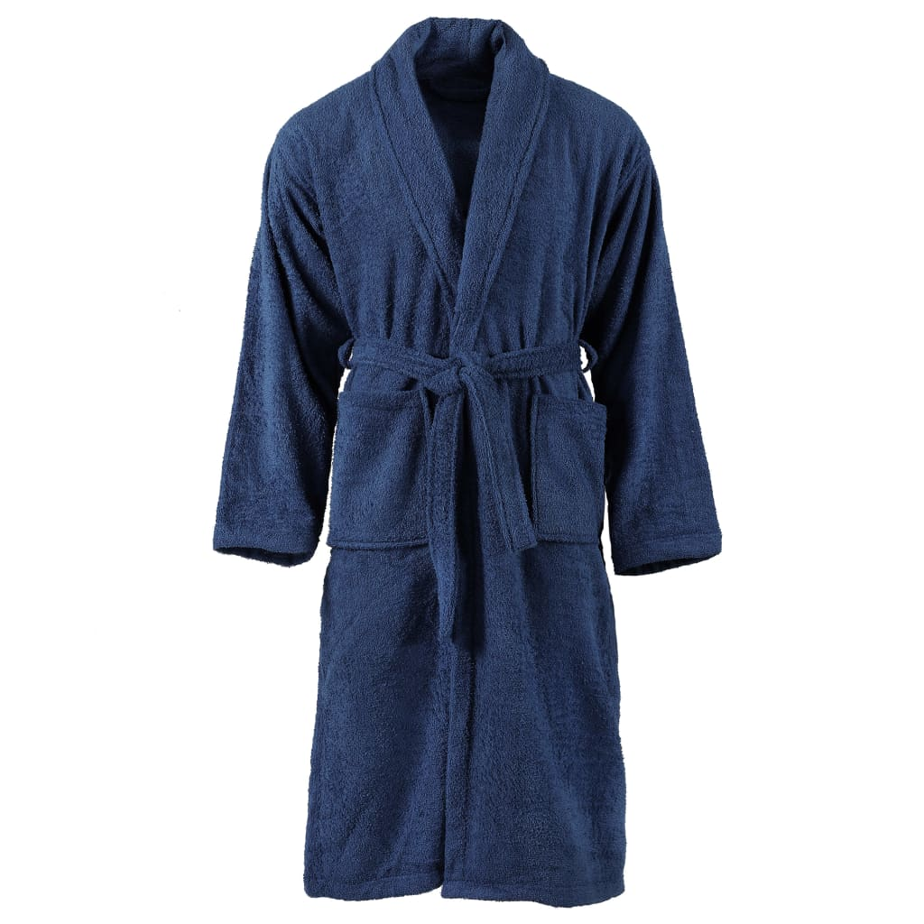 Unisex froté župan 100% bavlna námořnická modrá S