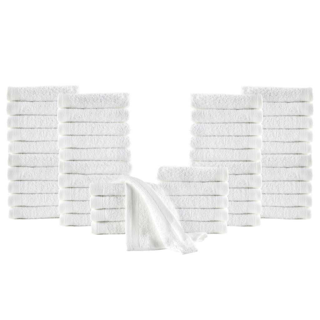 Sada ručníků pro hosty 50 ks bavlna 350 g/m² 30 x 50 cm bílá