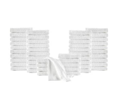 vidaXL Uteráky pre hostí 50 ks, bavlna 350 g/m², 30x50 cm, biele
