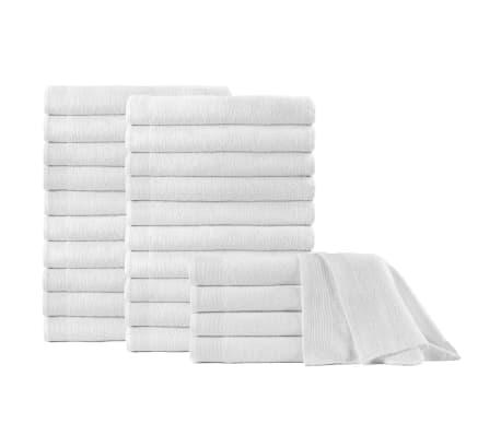 vidaXL Uteráky do sauny 25 ks, bavlna 350 g/m², 80x200 cm, biele