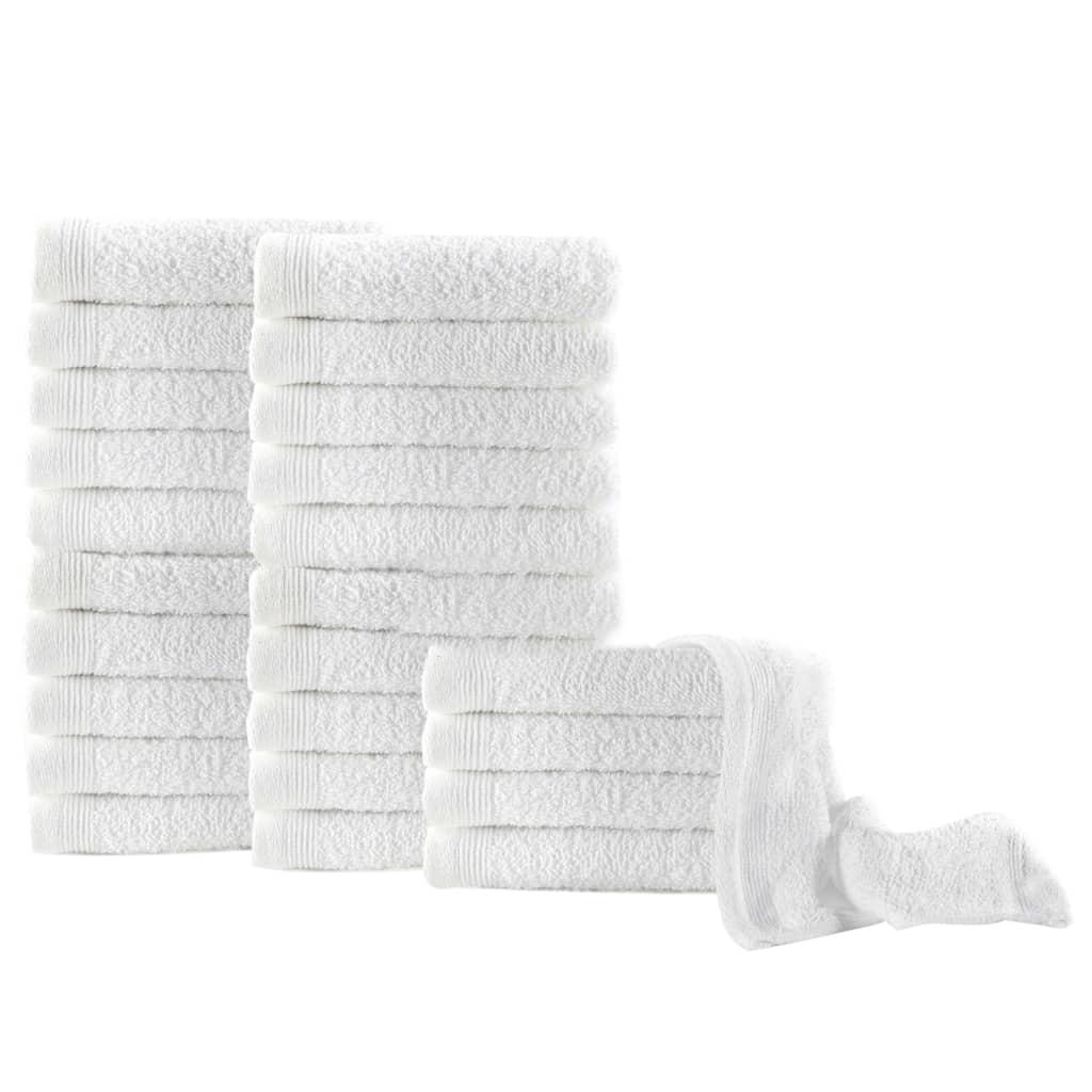 vidaXL Ručníky pro hosty 25 ks bavlna 350 g/m² 30 x 50 cm bílé