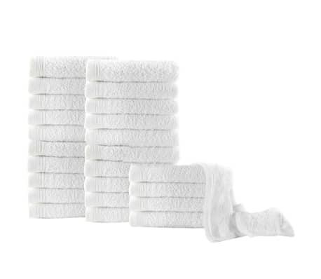 vidaXL Uteráky pre hostí 25 ks, bavlna 350 g/m², 30x50 cm, biele