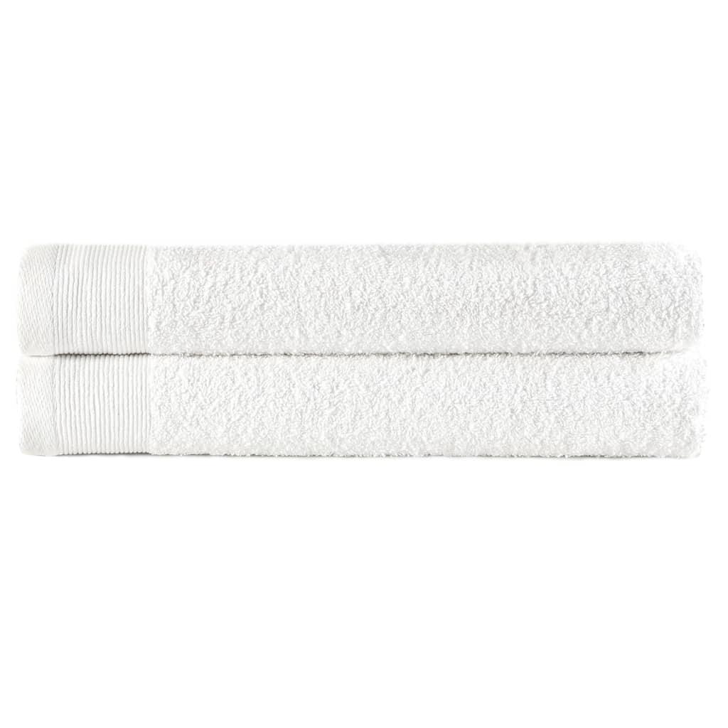 Ručníky 2 ks bavlna 450 g/m² 50 x 100 cm bílé