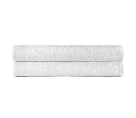 vidaXL Sprchové uteráky 2 ks biele 70x140 cm bavlnené 450 g/m2