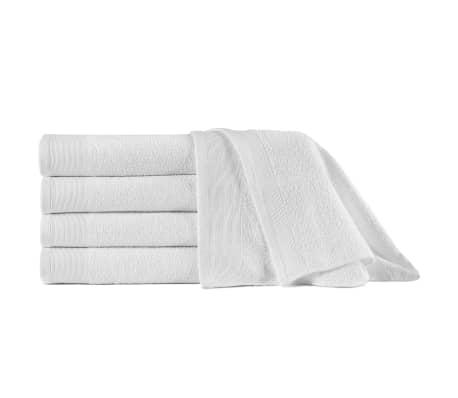 vidaXL Saunové uteráky 5 ks biele 80x200 cm bavlnené 450 g/m2