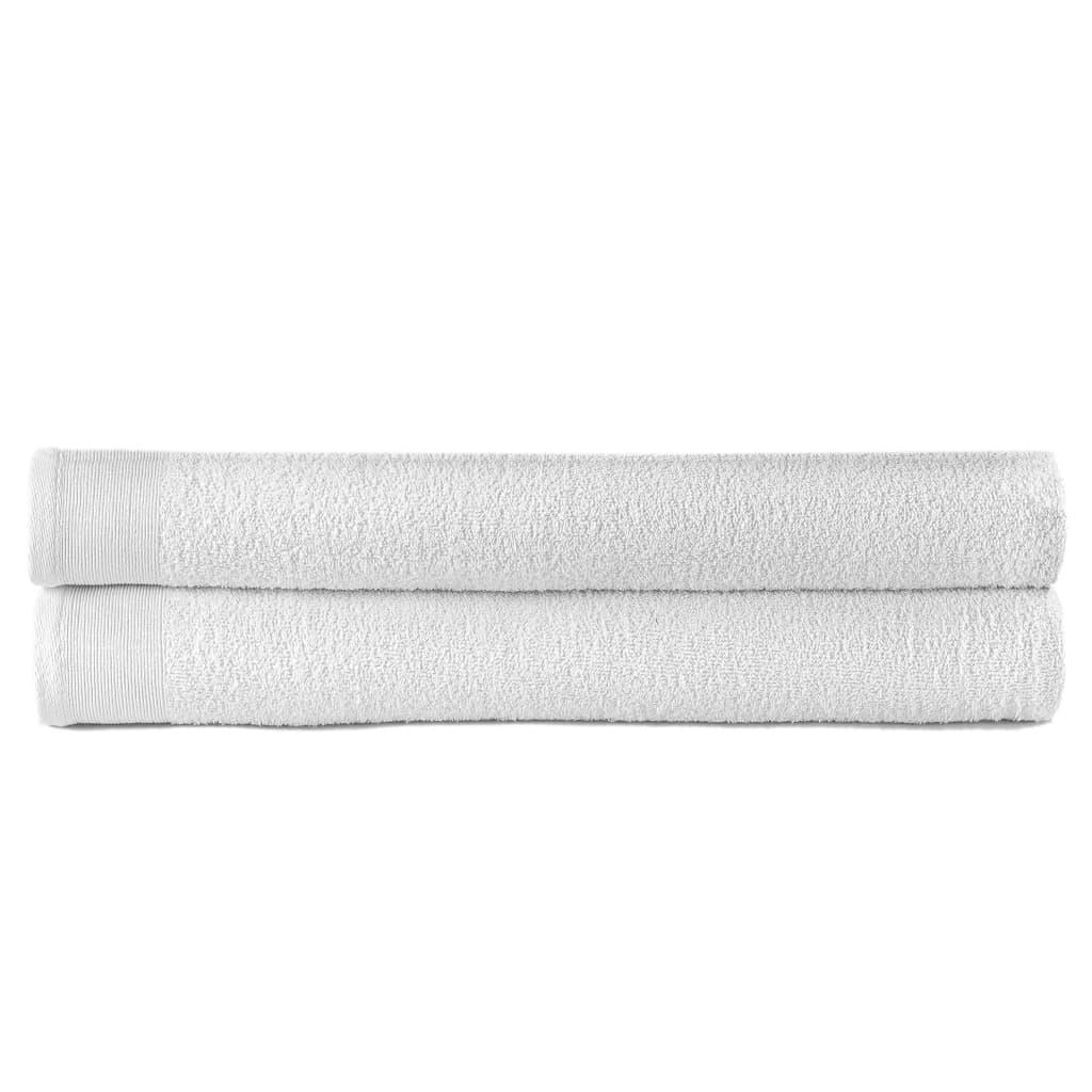 Sada saunových osušek 2 ks bavlna 450 g/m² 80 x 200 cm bílá