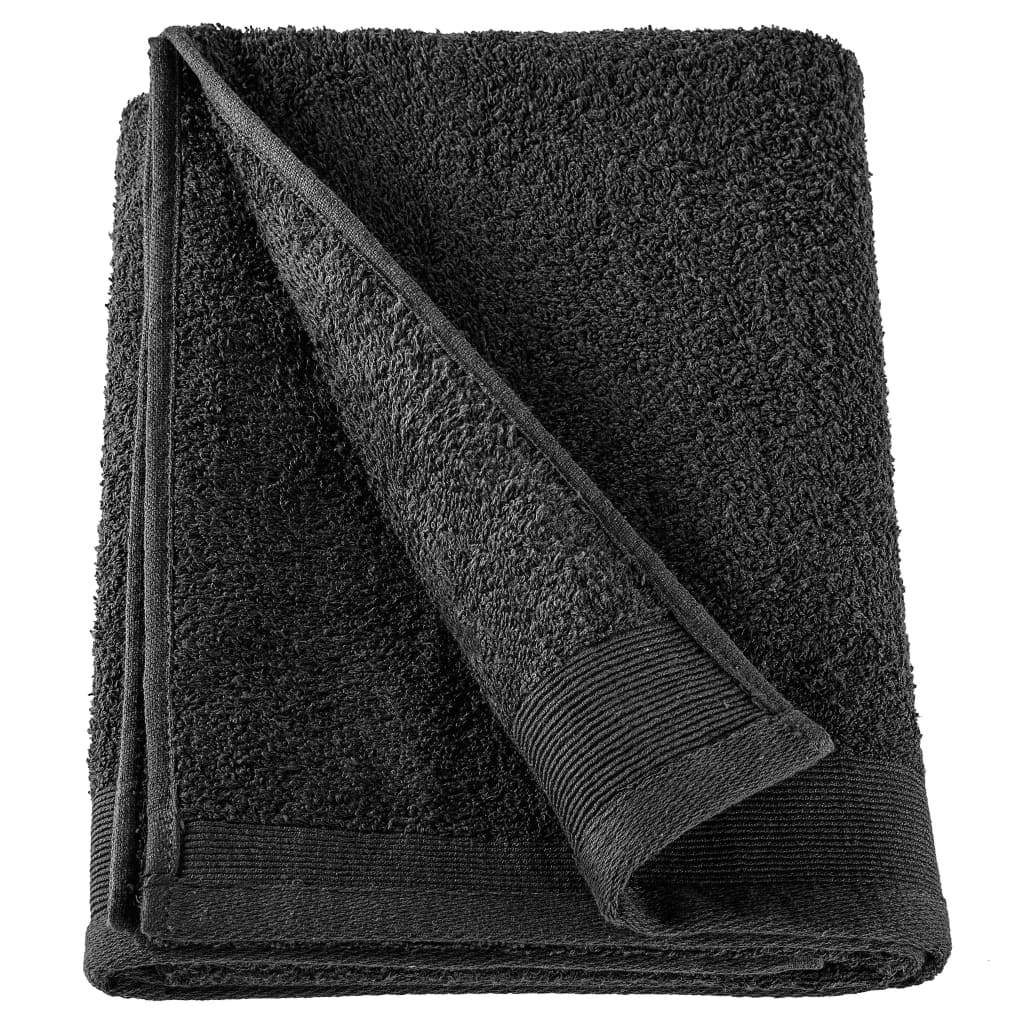 Saunahanddoeken 5 st 450 g/m² 80x200 cm katoen zwart
