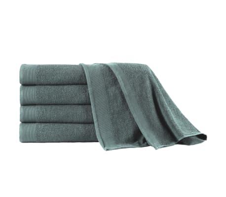 vidaXL 5-dielna sada kúpeľňových uterákov zelená 100x150 cm bavlnená 450 g/m2