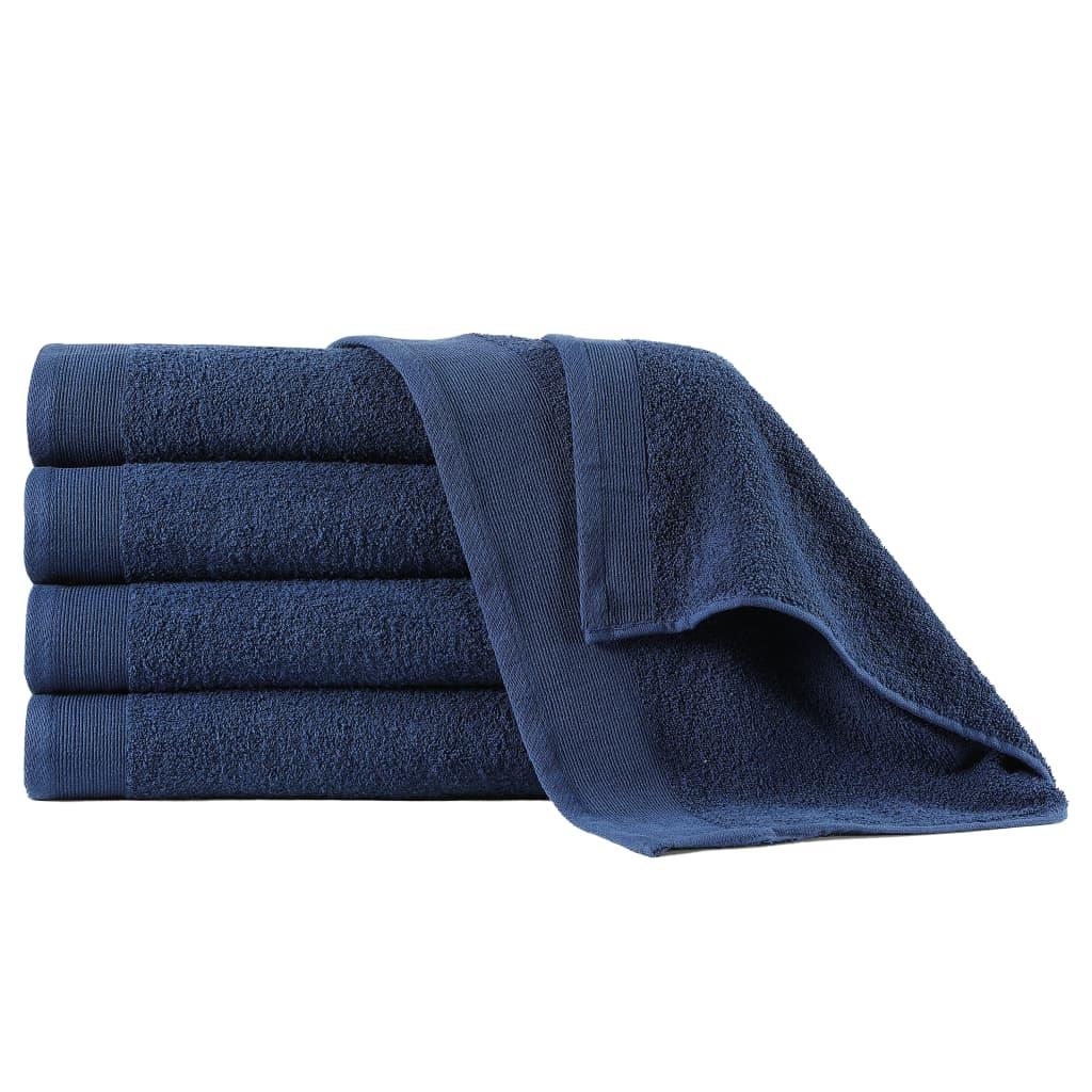 Osušky 5 ks bavlna 450 g/m² 70 x 140 cm námořnická modrá