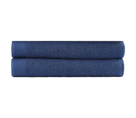 vidaXL 2-dielna sada kúpeľňových uterákov námornícka modrá 100x150 cm bavlnená 450 g/m2