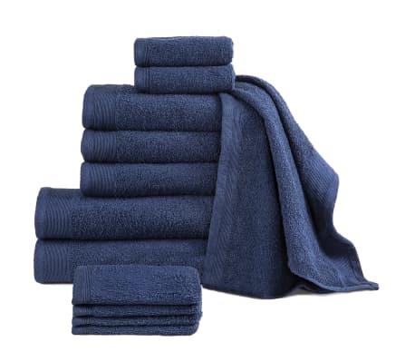 vidaXL 12-dielna sada uterákov, bavlna 450 g/m², námornícke modré