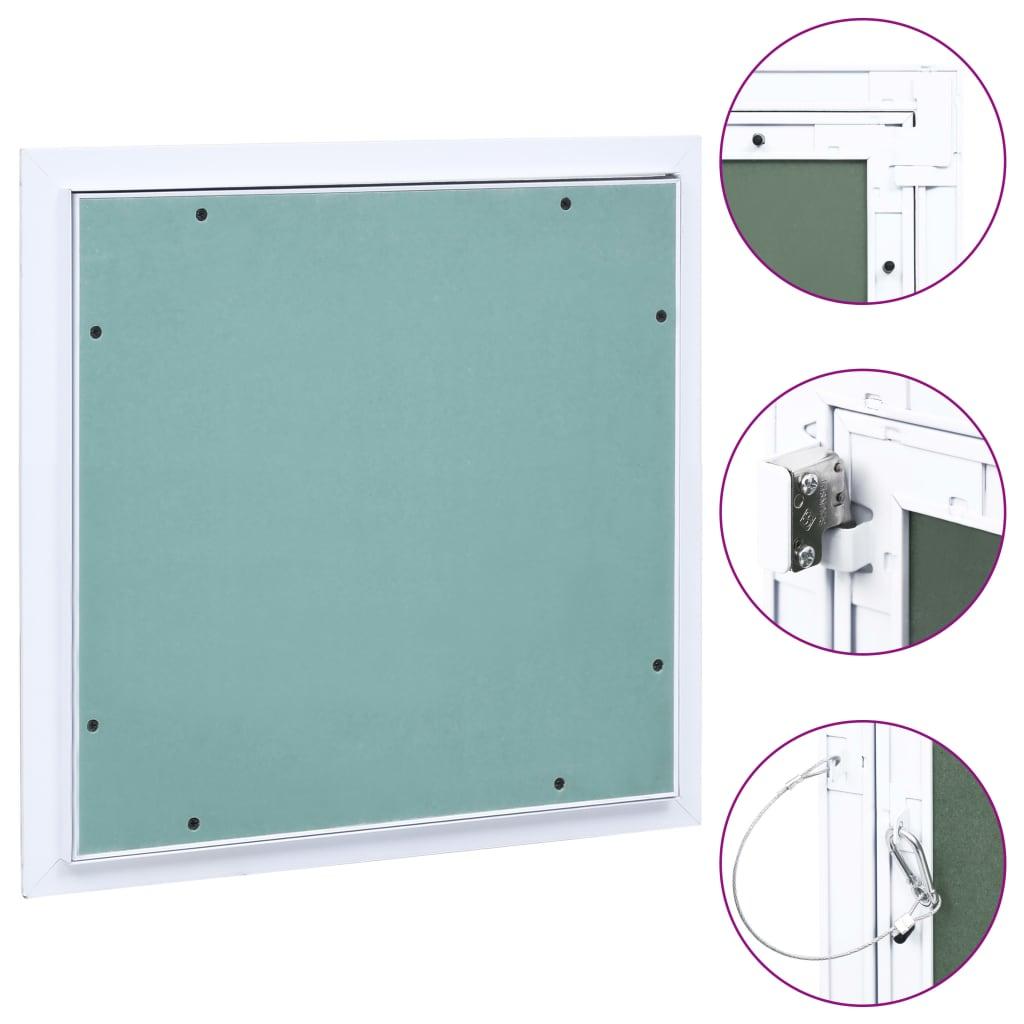 vidaXL Trapă de acces din gips-carton, cadru de aluminiu, 400 x 400 mm imagine vidaxl.ro
