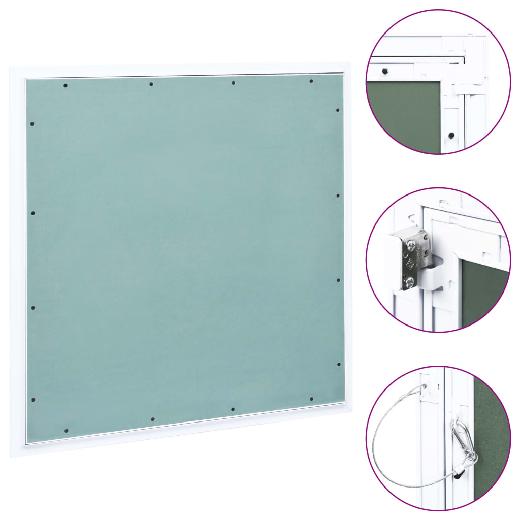 vidaXL Trapă de acces din gips-carton, cadru de aluminiu, 500 x 500 mm imagine vidaxl.ro