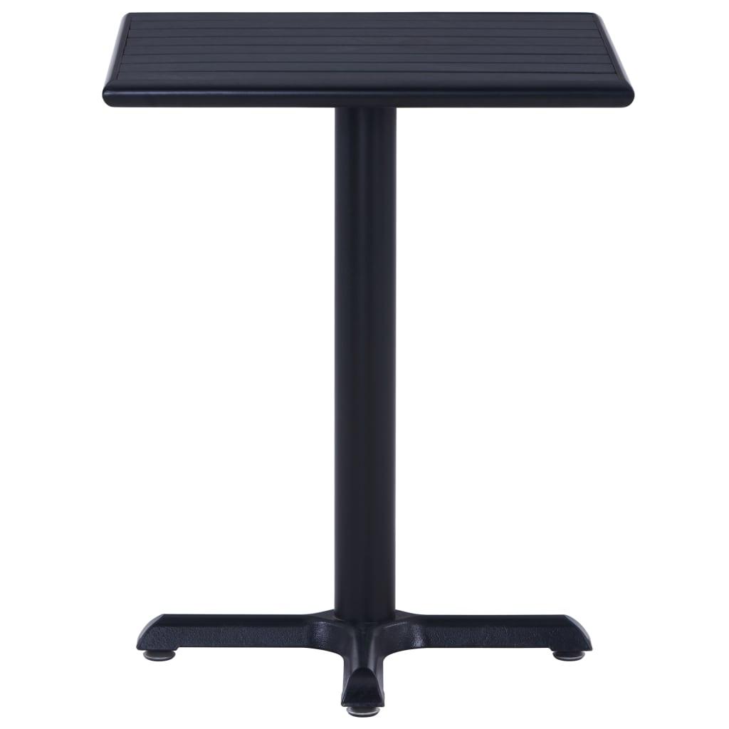 vidaXL Tuintafel 60x60x75 cm zwart